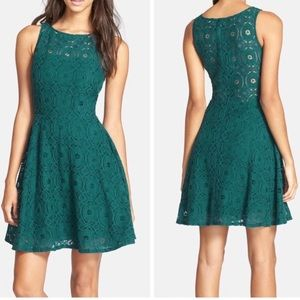 BB DAKOTA Renley lace fit flare dress